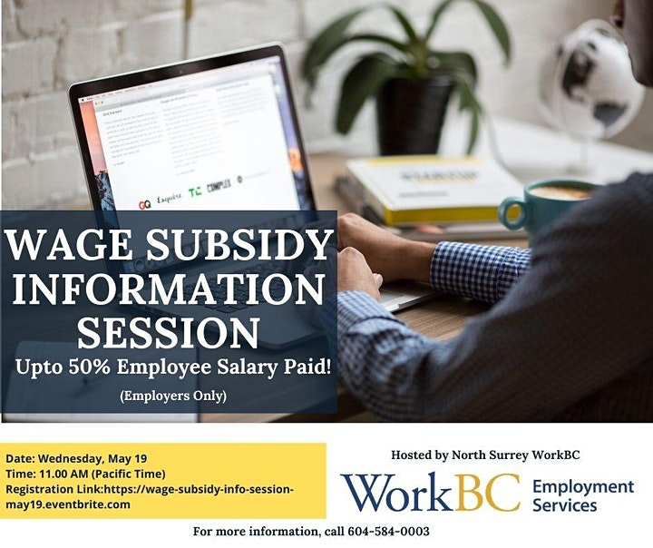 Wage Subsidy Information Session For Employers image