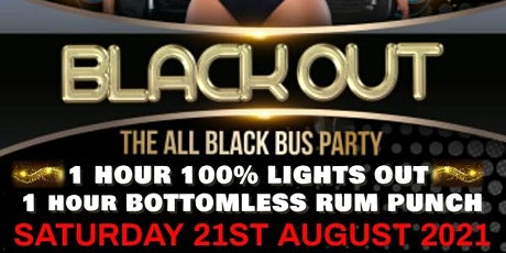 BLACKOUT - THE ALL BLACK PARTY BUS  tickets