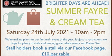 Erskine Salvation Army's Summer Fayre (Stall Booking) tickets