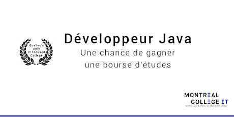 Développeur Java - Une chance de gagner une bourse d'études billets