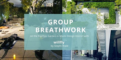 In person group breathwork session on the Rooftop Garden in Design District tickets