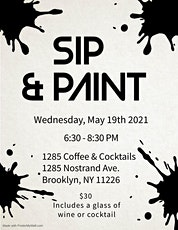 1285 Coffee & Cocktails Sip 'N Paint hosted by Iconikes tickets