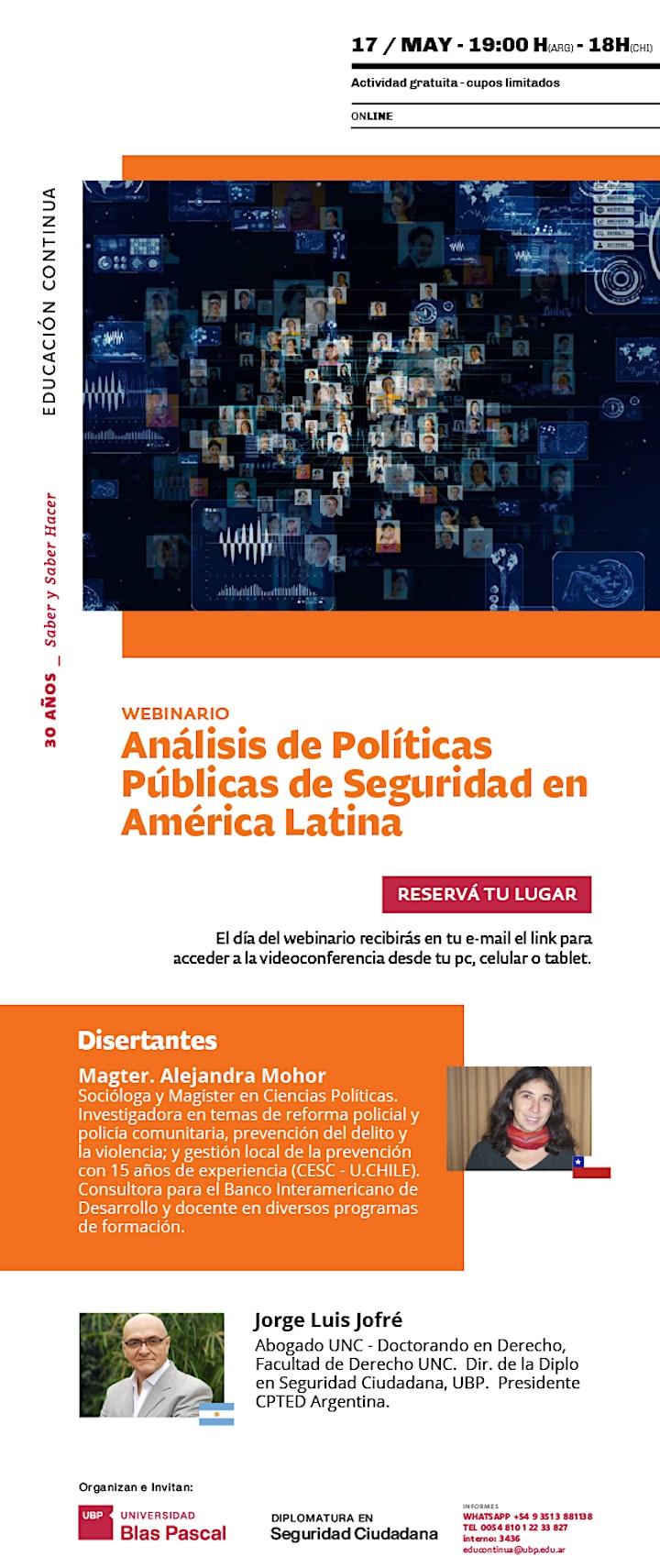 Imagen de Webinario> Análisis de Políticas Públicas de Seguridad en América Latina