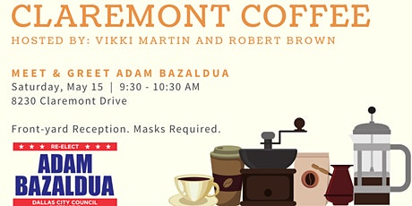 Claremont Coffee with Adam Bazaldua tickets