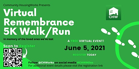 Virtual Remembrance 5K Walk/Run: In memory of the loved ones we've lost tickets