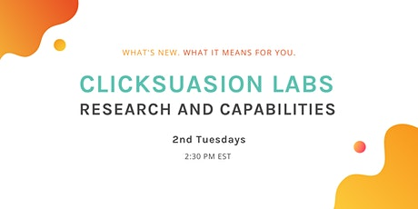 Research and Capabilities - 2nd Tuesday @ 2:30 PM EST tickets