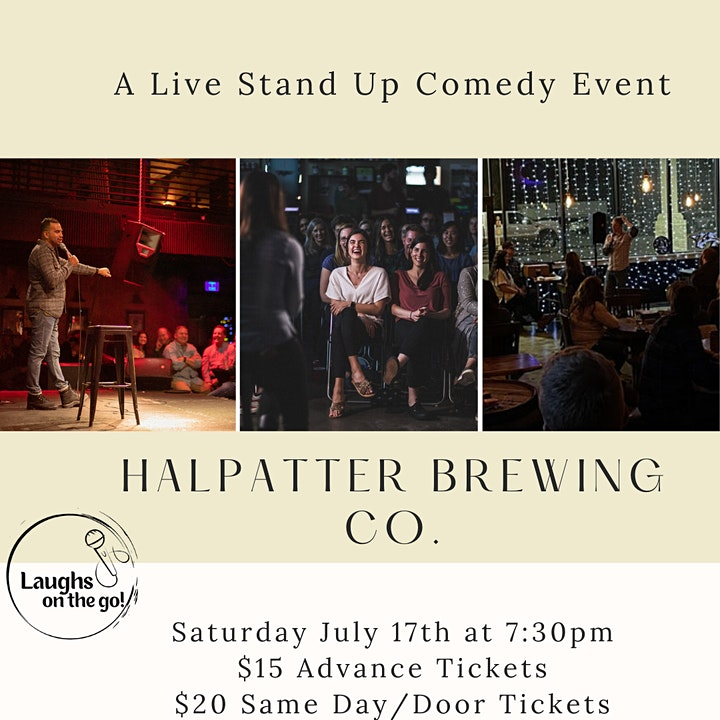 Laughs on the Go at Halpatter Brewing Co.  - A Live Stand Up Comedy Event image