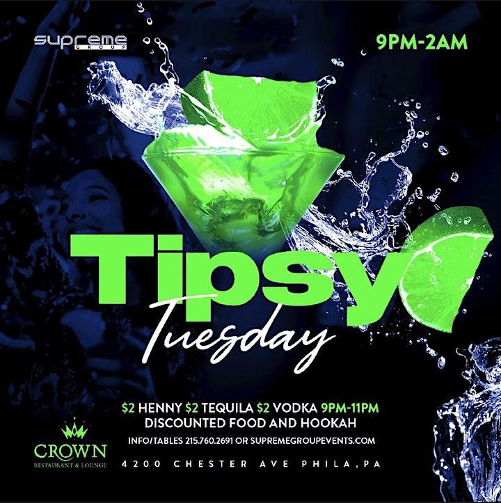 #TipsyTuesday at Crown Lounge May 18th 9pm-2am image