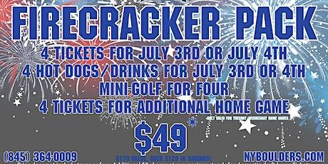 New York Boulders Firecracker Pack tickets