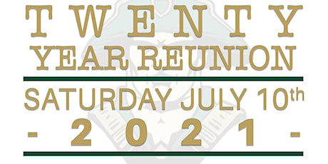 Concord High School class of '01 20 year reunion tickets