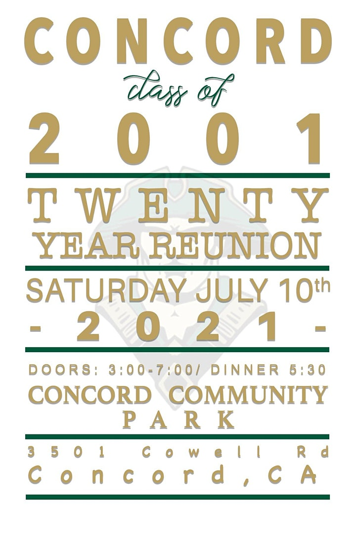 Concord High School class of '01 20 year reunion image