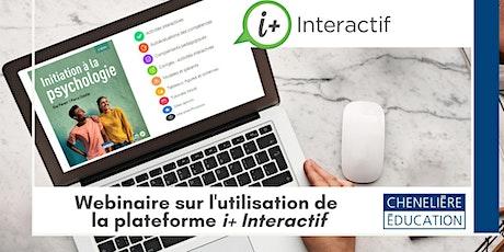 Formation numérique i+ Interactif | Initiation à la psychologie billets