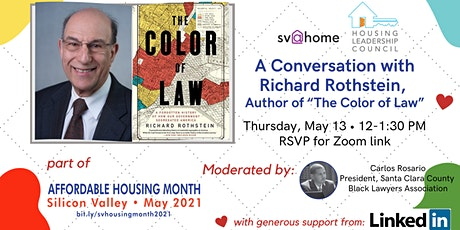 "A Conversation with Richard Rothstein, Author of ""The Color of Law"" tickets"