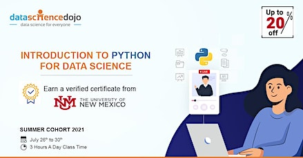 Introduction to Python for Data Science: Summer Cohort tickets