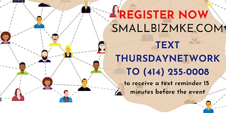 Smallbizmke Think Tank!  Small Business Owners Networking Event! Thursdays tickets