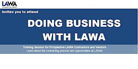 Doing Business with LAWA August 2021 Workshop tickets