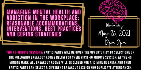 Managing Mental Health and Addiction in the Workplace tickets