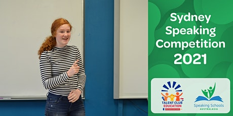 Sydney Speaking Competition 2021 tickets