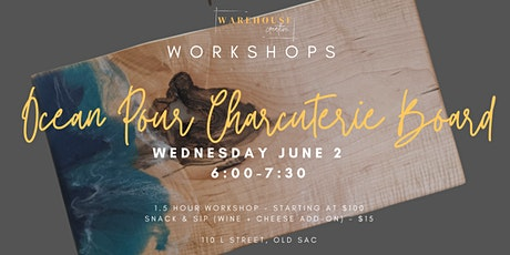 Ocean Pour Charcuterie Board Workshop tickets