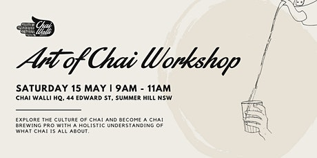 Art of Chai Sydney Workshop May 2021 tickets