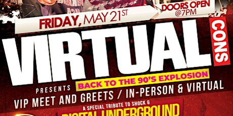 VirtualCons Presents Back to 90s Explosion tickets