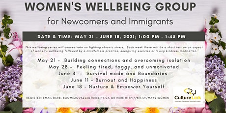 Women's Wellbeing Group: For newcomers and immigrants tickets