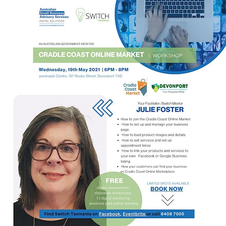 Cradle Coast Online Market - FREE Workshop image