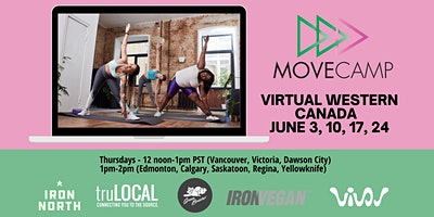 MoveCamp – Western Canada free lunchtime virtual fitness sessions