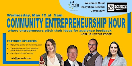 Community Entrepreneurship Hour - May 2021 Meetup tickets
