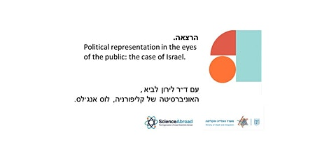 Political representation in the eyes of the public: the case of Israel. tickets