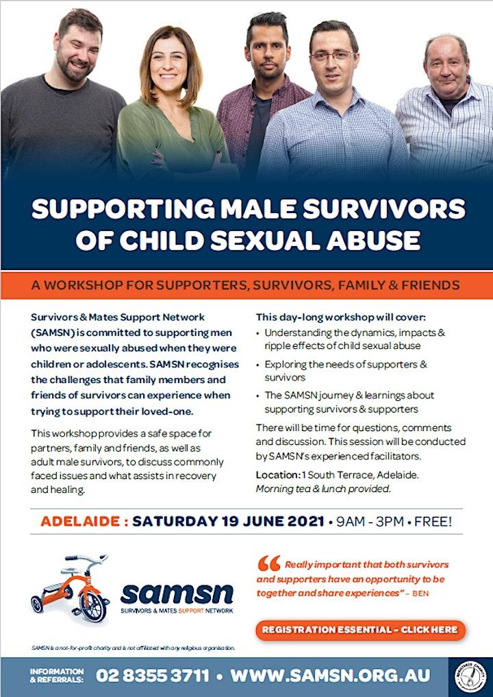 Supporters & Survivors Workshop - Adelaide - 19th June 2021 image