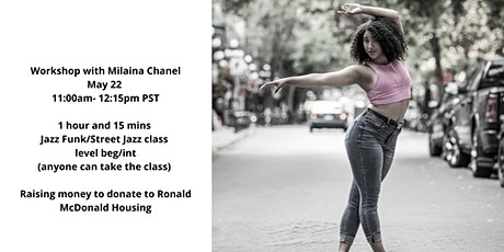 Workshop with Milaina Chanel to raise money for Ronald McDonald Housing tickets