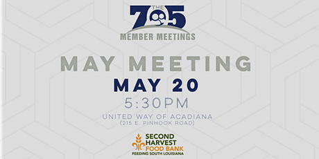 May Members Meeting With Second Harvest Food Bank tickets