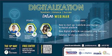 Digitalization - Transform, Enhance, Success tickets