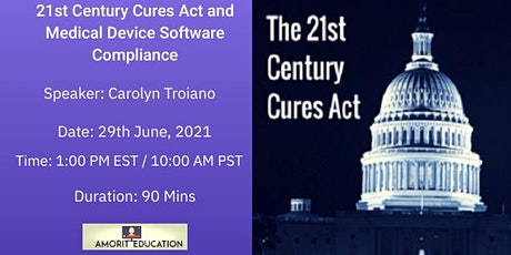 21st Century Cures Act and Medical Device Software Compliance tickets