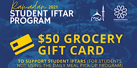 Student Iftar Program - Grocery Gift Cards tickets