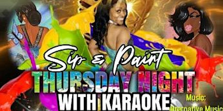Thursday Night Sip and Paint with Karaoke @Stars and Strikes tickets