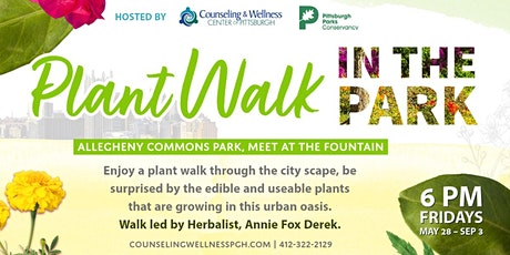 Plant Walk Weekly in the Park tickets