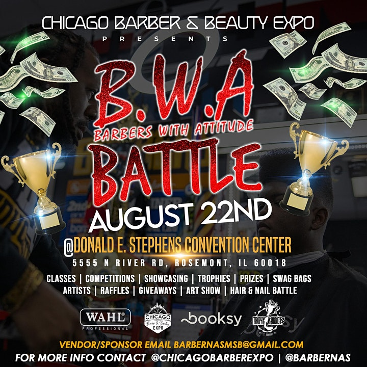 """Chicago Barber/Beauty Expo """"B.W.A"""" image"""