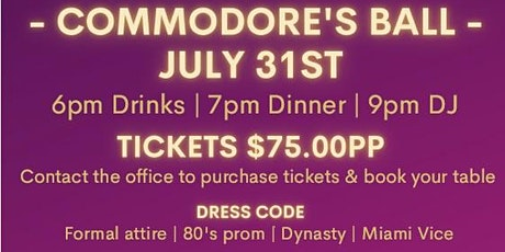 Commodores Ball - 80s Prom Night tickets