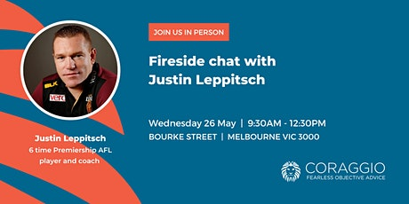 Fireside chat with Justin Leppitsch tickets