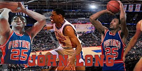 John Long Detroit Pistons autograph signing tickets
