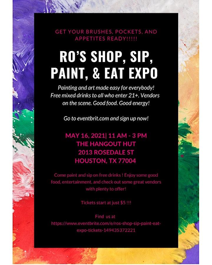 RO'S SHOP, SIP, PAINT, & EAT EXPO image