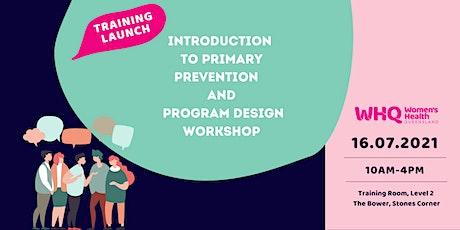 Primary Prevention of Violence + Program Design & Collaboration Workshop tickets