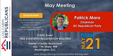 Log Cabin DC May Meeting with Patrick Mara tickets