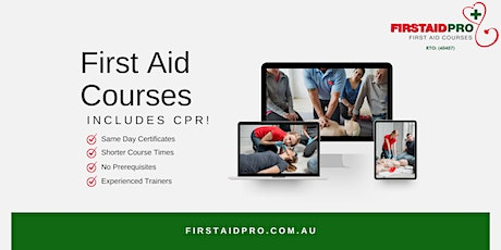 First Aid + CPR Course - Adelaide CBD tickets