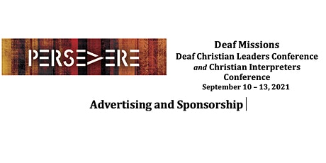 Advertising and Sponsor Opportunities - Deaf Missions 2021 Fall Events tickets