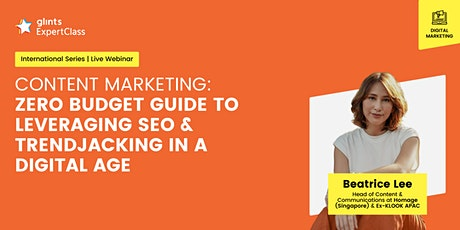 GEC International - Guide To Leveraging SEO and Trendjacking in Digital Era tickets