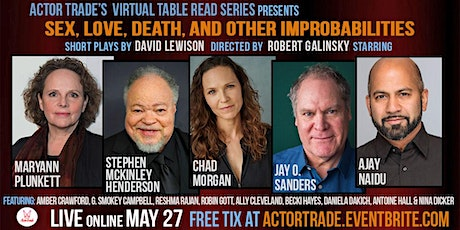 Sex, Love, Death and Other Improbabilities - short plays by David Lewison tickets