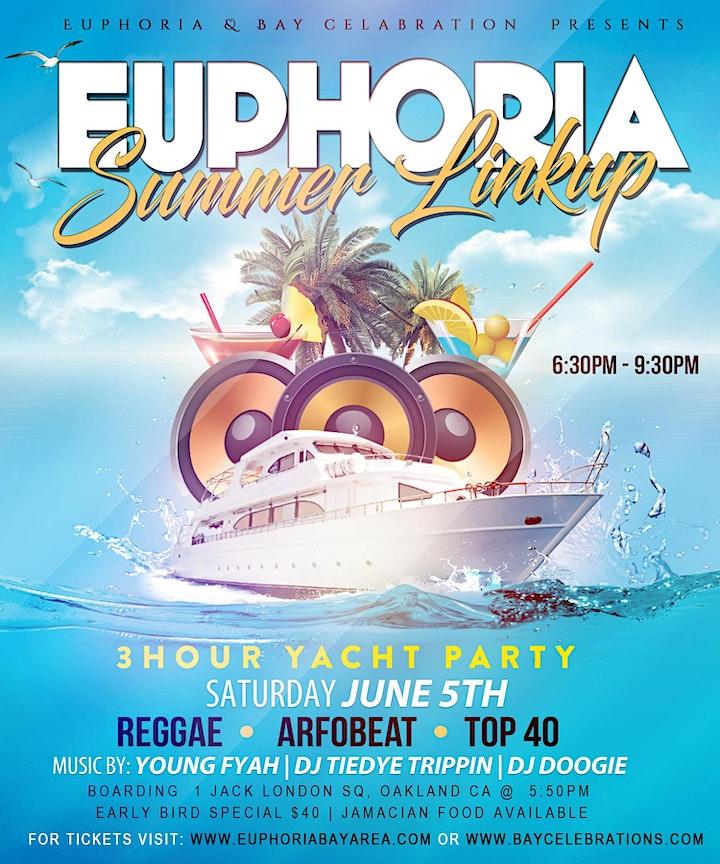 Euphoria (Summer LinkUp) 3hr AfroCaribbean Yacht Party image